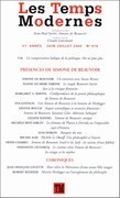 Les temps modernes n. 619 : présences de Simone de Beauvoir