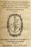 'Le songe de Poliphile' : histoire d'un livre initiatique