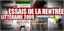 LES ESSAIS DE LA RENTREE LITTERAIRE 2009