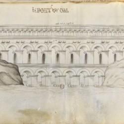 Le pont du Gard, dessin sur vélin