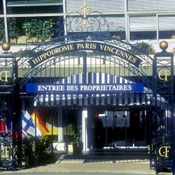 Le portail d'entrée de l'hippodrome de Vincennes