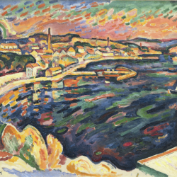"""Le Port de l'Estaque"", Georges Braque, 1906, exposition ""Braque"" au Grand Palais à partir du 18 septembre 2013"
