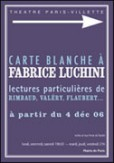 Carte blanche  Fabrice Luchini