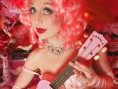Kitten on the Keys/Pink ukulele - Cabaret New Burlesque