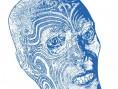 Gravure de la tête maorie - Muséum d'Histoire naturelle de Rouen