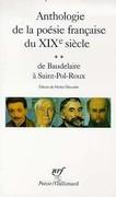 Anthologie de la poésie française du XIXe siècle